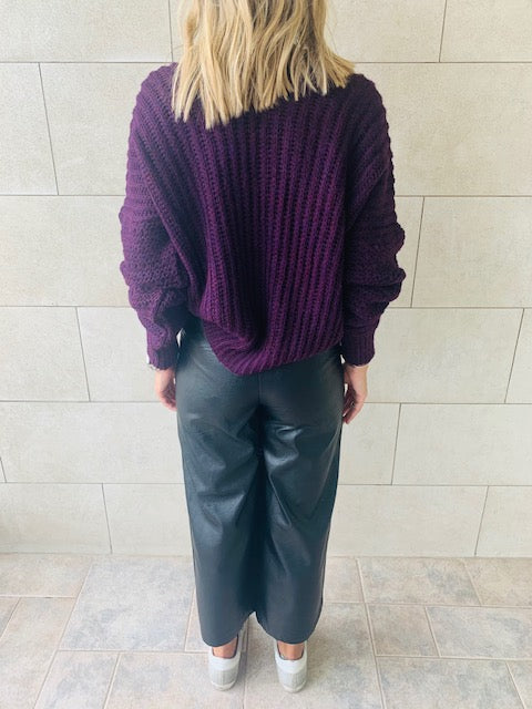 Purple Slouch Pullover