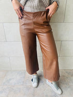 Copper Leather Culottes
