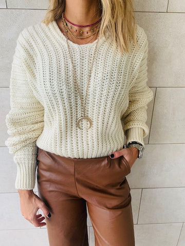 Blush Cable Tie Pullover