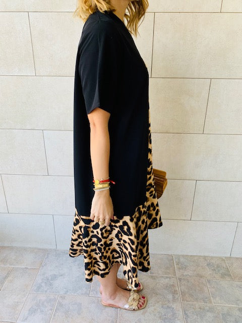 Multi Leopard Smock Dress