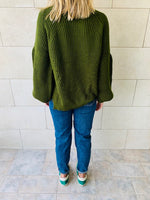 Olive Blossom Pullover