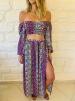 Purple Confetti Chiffon Set