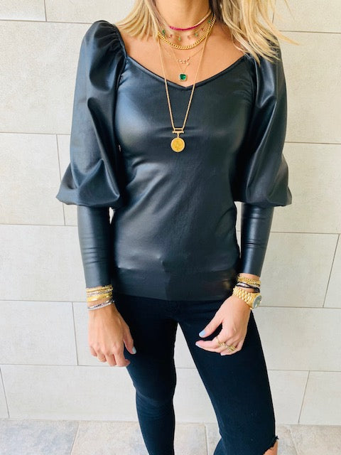 Sasha Leather Top