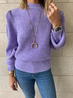 Lilac Open Back Tie Pullover