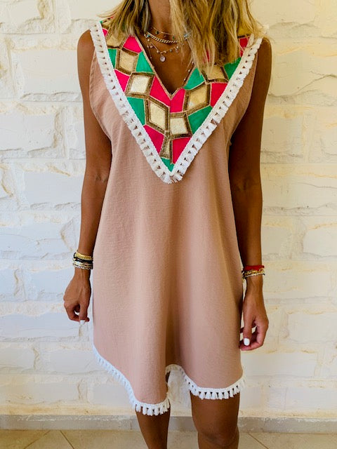 Beige Milly Statement Dress