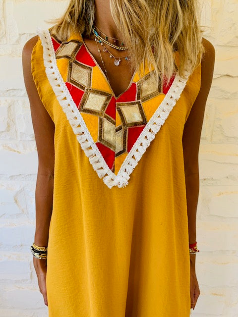 Mustard Milly Statement Dress