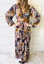 Multi Orient Print Maxi Dress