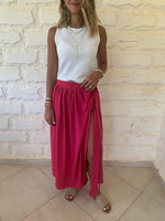 Fuchsia Wrap Skirt