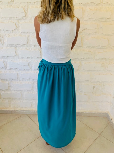Turquoise Wrap Skirt