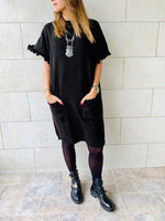 Black Fiesta Knit Dress