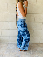 Tie Dye Denim Flare Pants