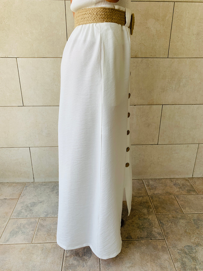 White Belted Skirt
