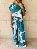3 Piece Blue Tie Dye Set