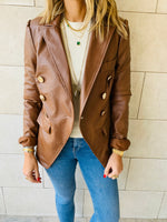 Copper Urban Distressed Leather Jacket.