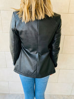 Black Urban Distressed Leather Jacket.