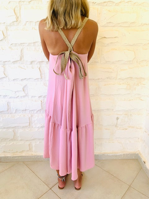 Rosie Back Tie Tiered Dress