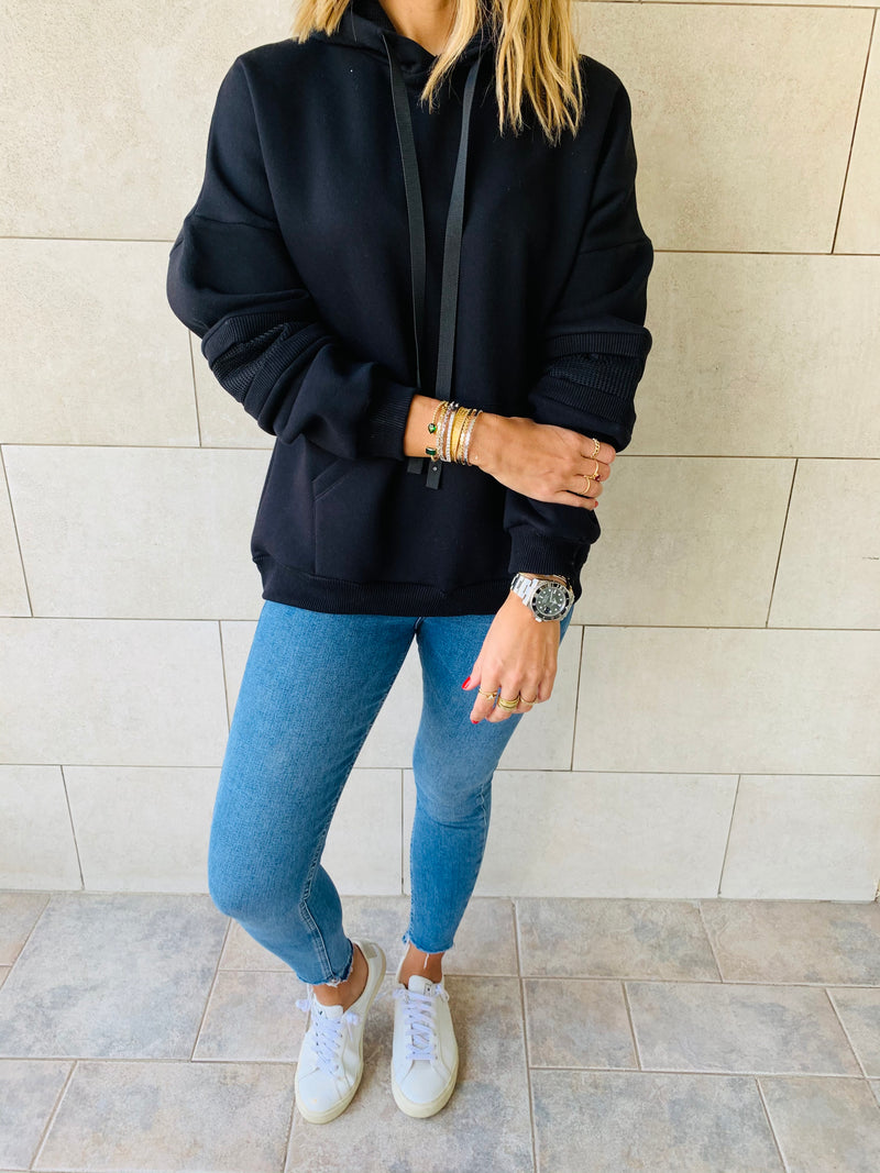 Effortless Black Hoodie