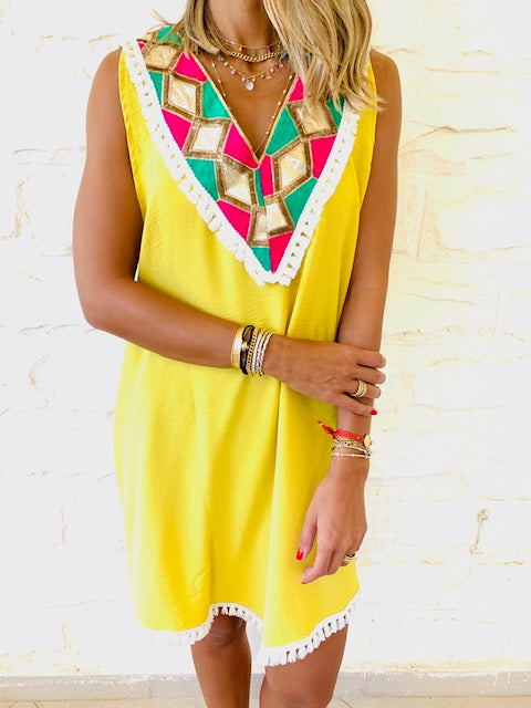Yellow Milly Statement Dress