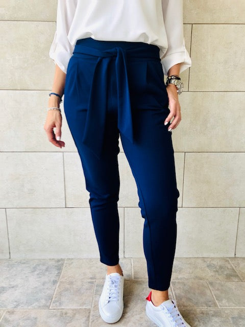 Navy Summer Cigarette Pants