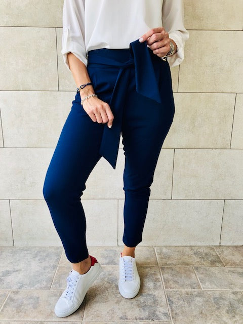 Navy Cigarette Pants
