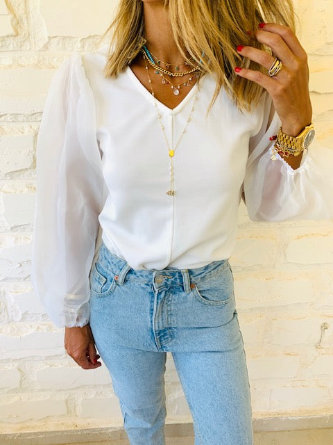 White Out & About Top
