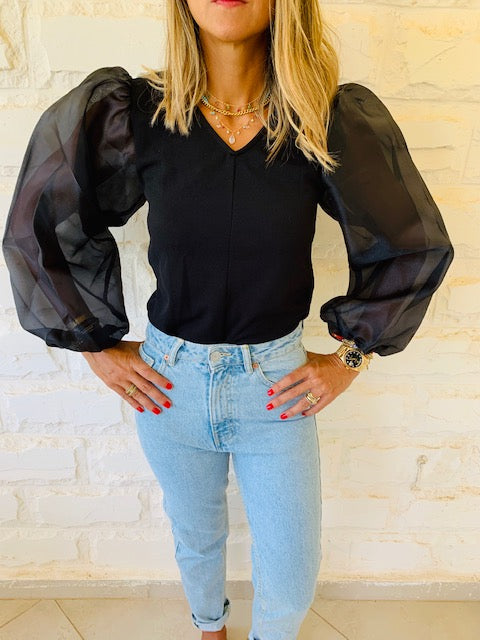 Black Out & About Top