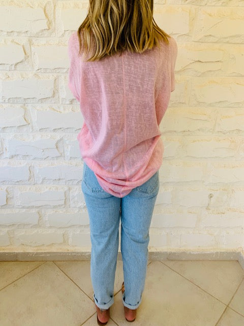 Blush Summer Knit Top