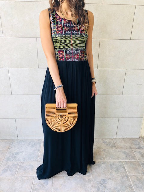 Embroidered Maxi Beach Dress