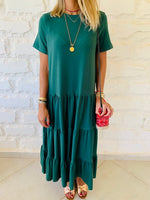 Green Tiered City Dress
