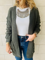 Olive Holly Pocket Cardigan