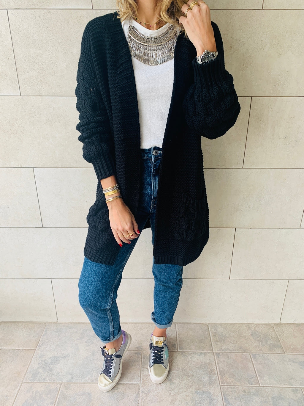 Black Holly Pocket Cardigan