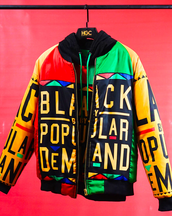 "BLACK BY POPULAR DEMAND® ""HOMAGE"" Unisex Bomber Jacket"