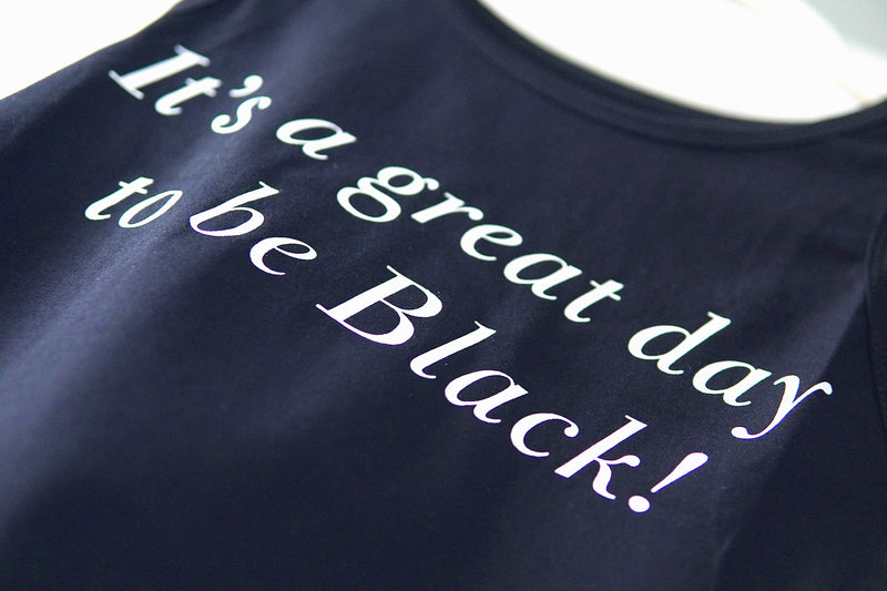 IT'S A GREAT DAY TO BE BLACK™ Black Crop Top