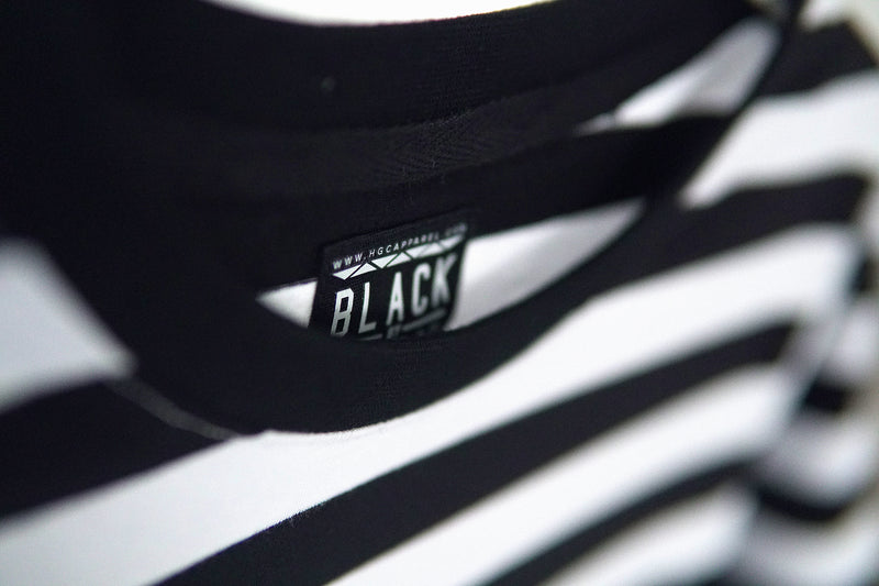 BLACK BY POPULAR DEMAND® Unisex Striped Black & White Pocket Shirt