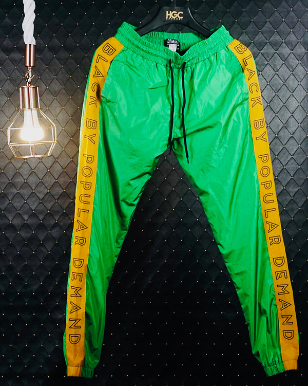 BLACK BY POPULAR DEMAND® Unisex Green Windbreaker Pants
