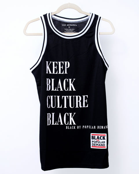 KEEP BLACK CULTURE BLACK Unisex Black Jersey Shirt