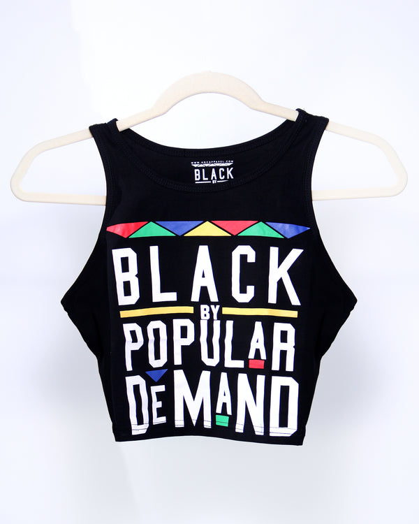 BLACK BY POPULAR DEMAND® Black Crop Tank Top