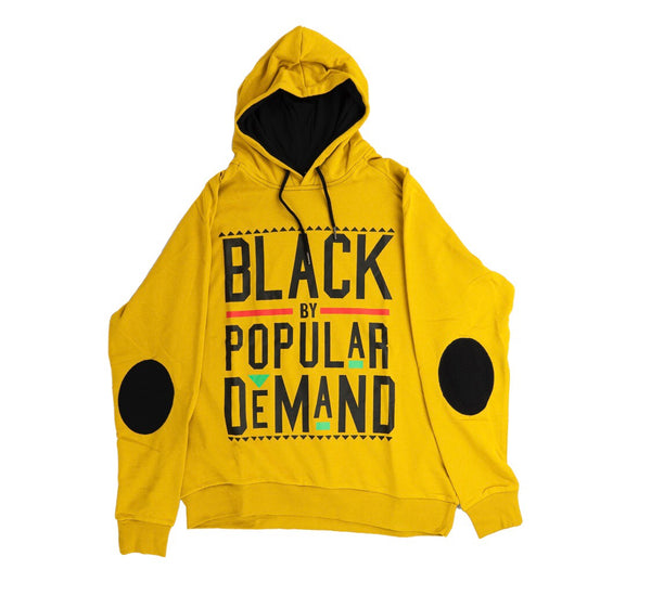 BLACK BY POPULAR DEMAND® YELLOW UNISEX HOODIE