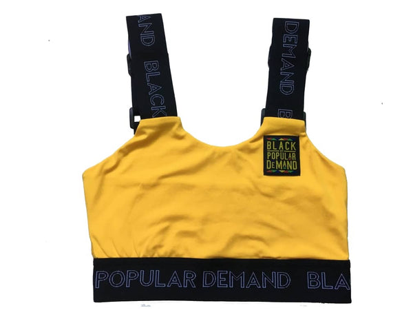 BLACK BY POPULAR DEMAND® Yellow 2 Piece Top