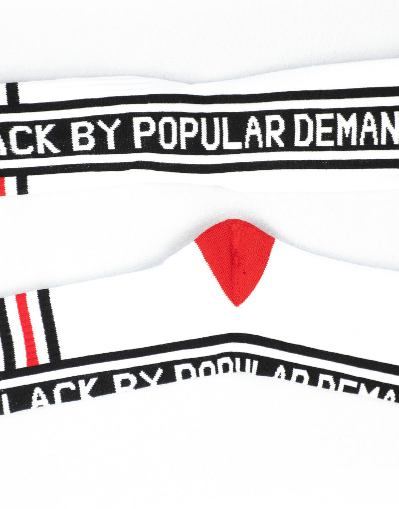 BLACK BY POPULAR DEMAND® RED ACCENT SOCKS