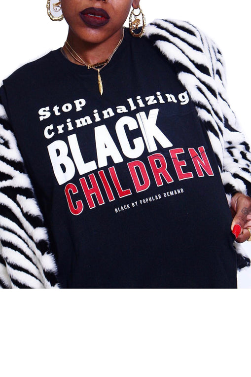 Stop Criminalizing Black Children Unisex Black Shirt