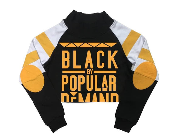 "BLACK BY POPULAR DEMAND® ""Real Love"" Yellow Crop SweatTop"