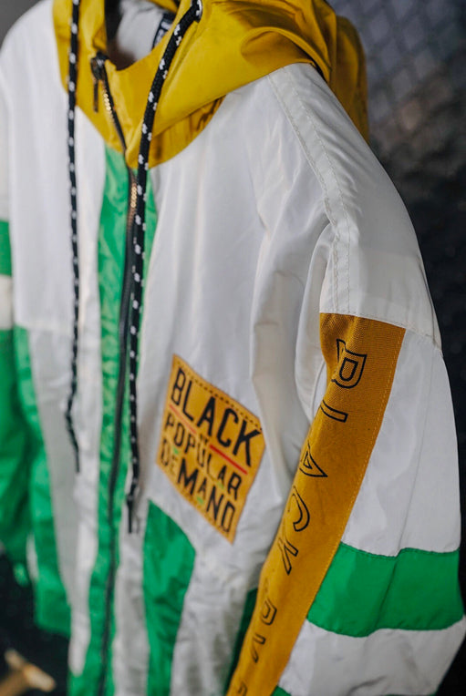BLACK BY POPULAR DEMAND® Green Yellow Windbreaker Jacket