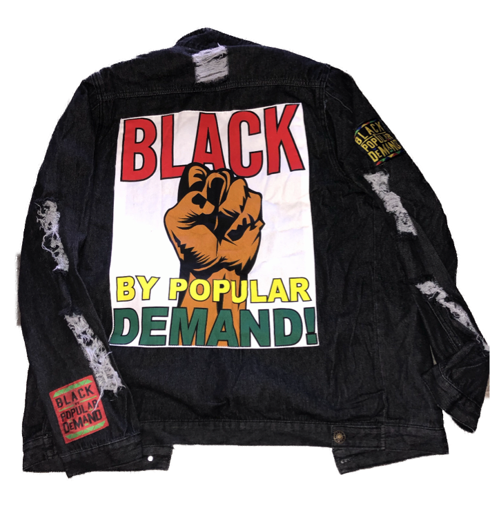 BLACK BY POPULAR DEMAND® Unisex Distressed Black Jean Jacket