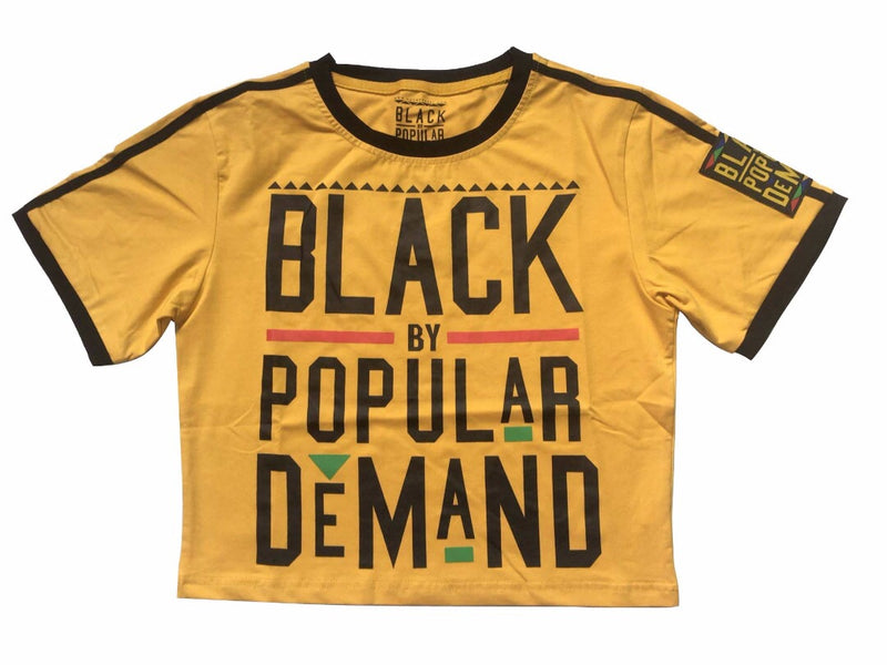 BLACK BY POPULAR DEMAND® YELLOW CROP SHIRT