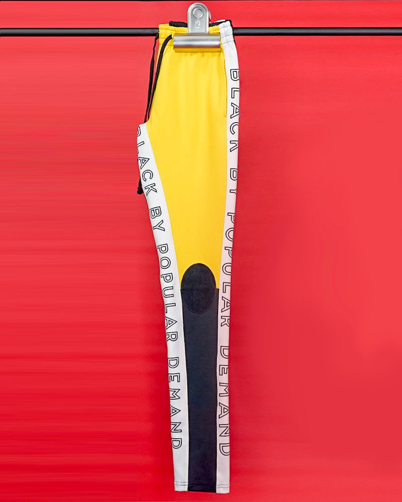 BLACK BY POPULAR DEMAND® YELLOW TRACK PANT