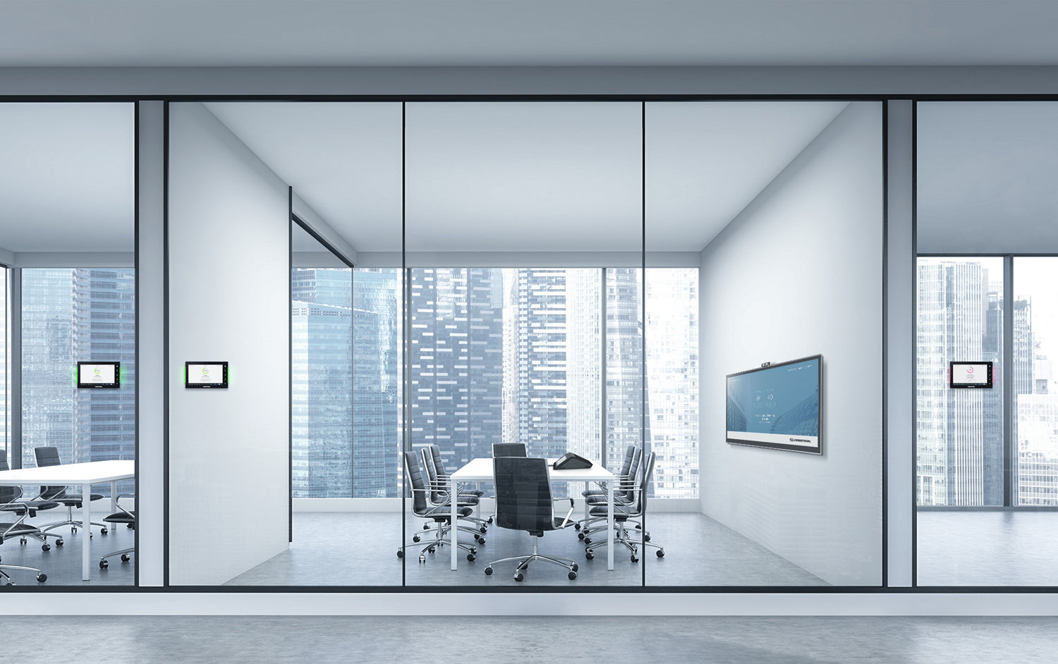 IT services for communication in a space for meetings