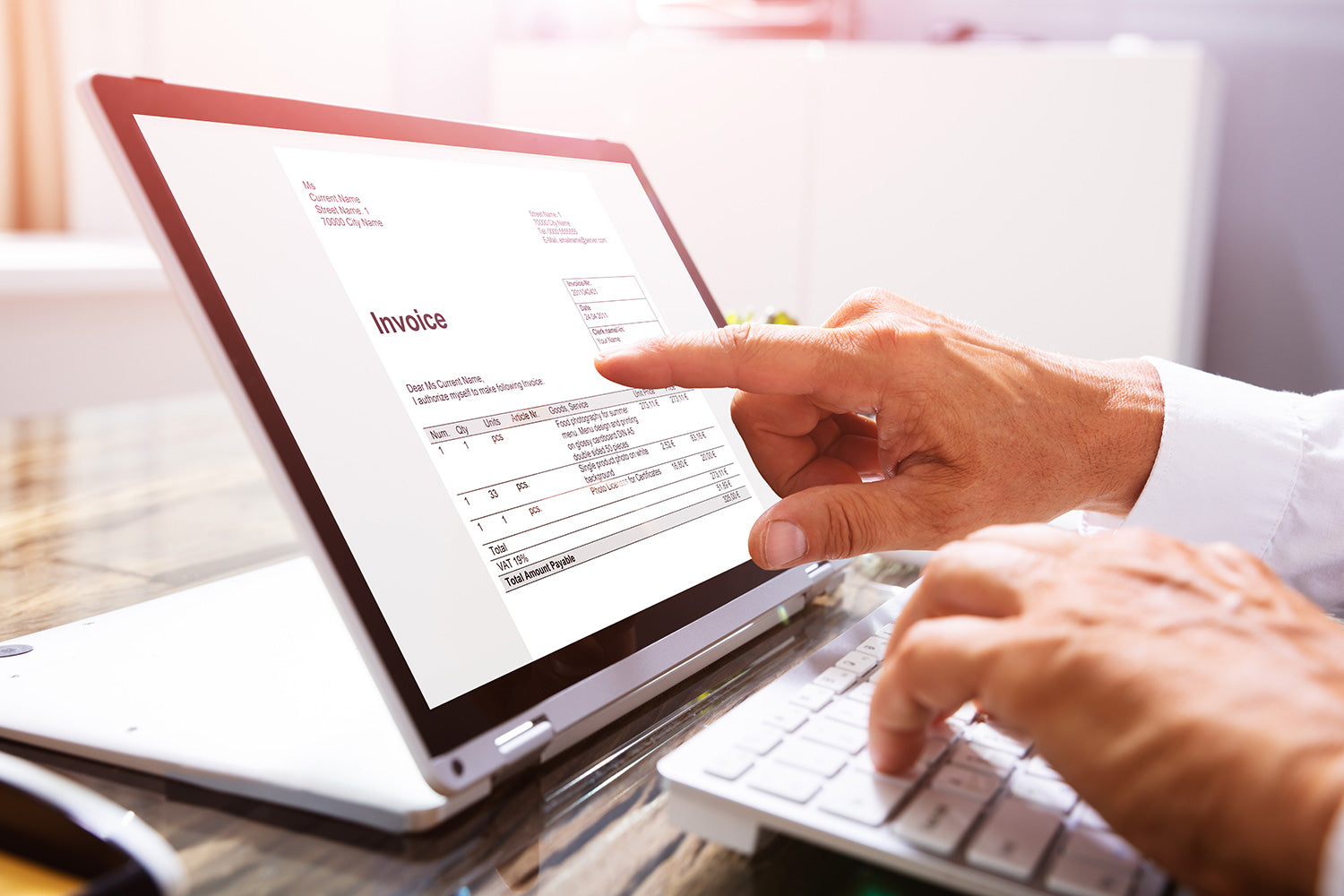 Automating accounts payable processing with generated invoice audit trails
