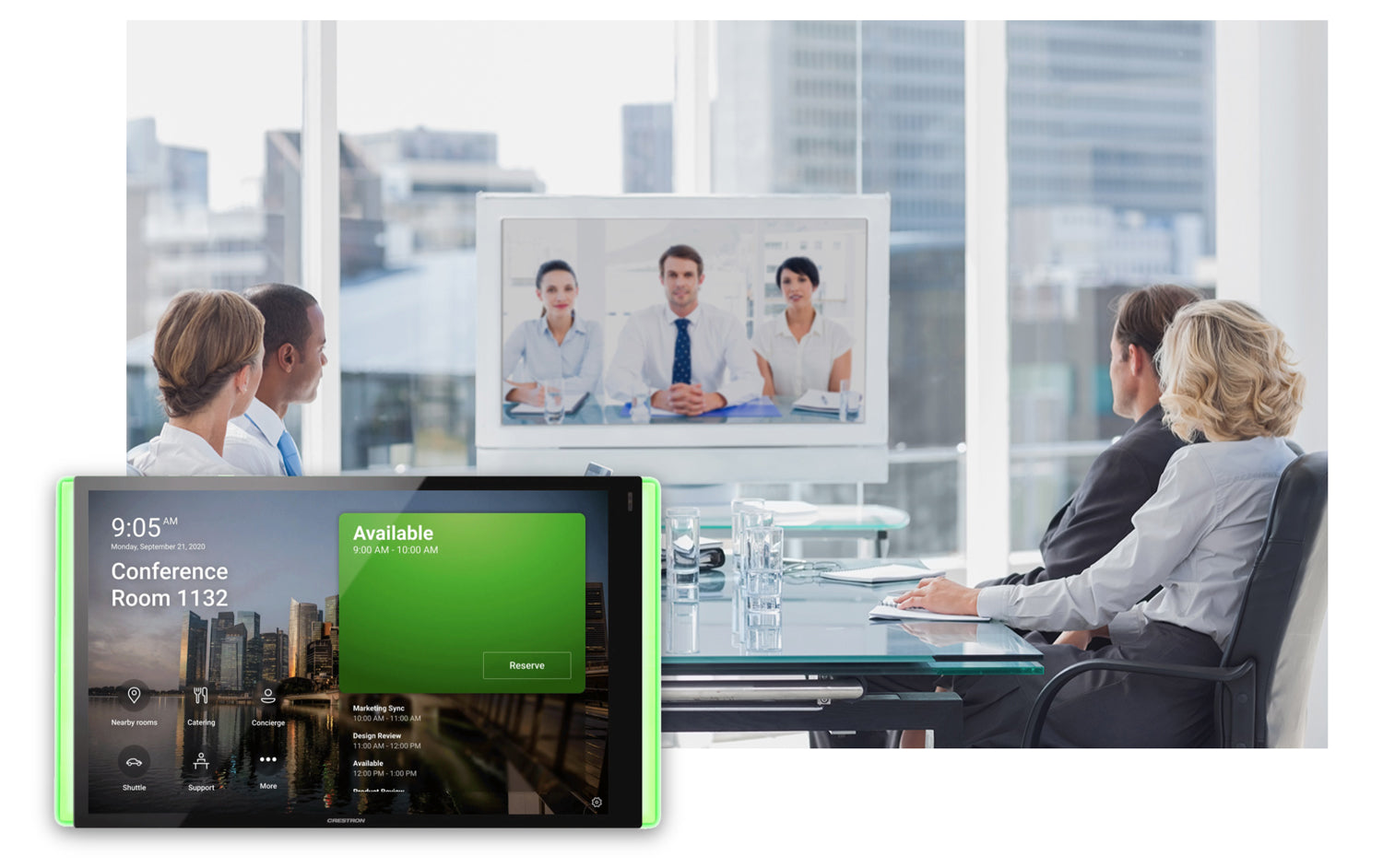IT services for communication in video conferencing room