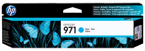 HP 971 (CN622AM) Cyan Original Ink Cartridge (2500 Yield)